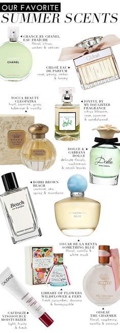 Our Favorite Summer Scents | theglitterguide.com