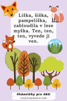 ▷ Nejkrásnější básničky pro děti - 101 básniček pro radost Kids Poems, Preschool Crafts, Projects For Kids, Kindergarten, Education, Children, Day Care, Young Children, Kids Service Projects