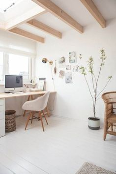 55 Awesome and Subtle Home Office Scandinavian Design Ideas 60 Home Office Design, Home Office Decor, House Design, Silent House, Modernisme, Cheap Home Decor, Home Decor Accessories, Scandinavian Design, Colorful Interiors