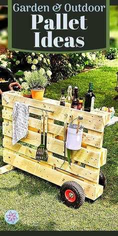 Wooden Pallet Projects, Pallet Crafts, Outdoor Projects, Pallet Ideas, Outdoor Decor, Outdoor Pallet, Wood Ideas, Garden Yard Ideas, Garden Projects