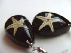 black drop star fish real star fish sea life by NewellsJewels