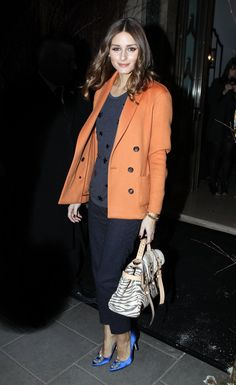 Olivia Palermo at the Mulberry Autumn/Winter 2012 during London Fashion Week ㅣ February, 2012