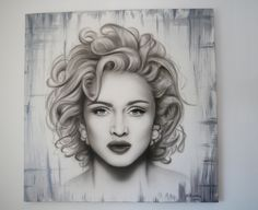 Madonna Airbrush Painting on Canvas