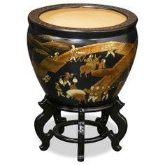 16in Chinoiserie Scenery Design Fishbowl