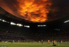 Ukraine vs. France, after a storm.