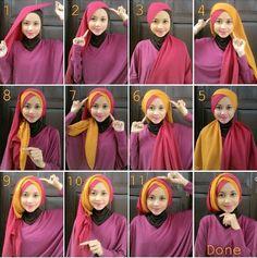 tutorial hijab pashmina wisuda Tutorial Hijab Wisuda, Pashmina Hijab Tutorial, Simple Hijab Tutorial, Hijab Style Tutorial, Hijab Wedding Dresses, Hijab Bride, Turban Hijab, Hijab Dress, Cara Hijab