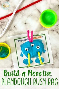 These monster playdough mats encourage creativity and sensory play. Simply print, laminate and assemble. Great for a Halloween party or busy bag. Morning Activities, Sensory Activities, Sensory Play, Infant Activities, Halloween Activities For Kids, Halloween Kids, Halloween Party, Halloween Goodie Bags, Halloween Goodies