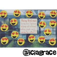 """Moral Literacy - Amy, a 2nd grade teacher that I followed during the semester, suggested a great activity that could be done when teaching students how to be kind, caring, and generous. Students could create booklets that state inside the ways that they can demonstrate kindness in the classroom, with the """"Heart Eyes"""" emoji as the cover. This activity would help students understand the ways in which they could show kindness through their actions both in and outside of the classroom."""
