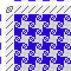 Weaving Draft Donat Polychrome XIX E a, b. No. 8, Germany, 2004-2015, #63415