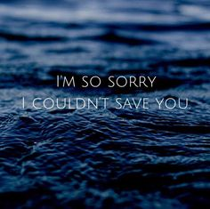 """""""I'm sorry I couldn't save you."""" Travis said with tears streaming down his face. """"It's fine, I can finally be at peace."""""""