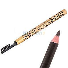 Atacado mulheres Leopard Waterproof Brown sobrancelha Enhancer lápis com escova maquiagem ferramenta alishoppbrasil