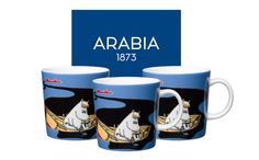 Håll Sverige Rent Moomin mug number 2 from Arabia is produced in collaboration with the Swedish environmental organization Håll Sverige Rent. The exclusive Moomin mug is sold in a limited edition and can only be purchased by Swedish resellers.