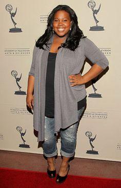 {casual days} Glee Star & Celebrity Curvy Girl Inspiration: Amber Riley