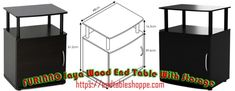 Solid Wood End Tables With Storage In Different Stylish Latest Designs Black End Tables, Metal End Tables, Modern End Tables, End Tables With Storage, Target End Tables, Mission Style End Tables, Powell Furniture, Printer Stand, Pvc Tube