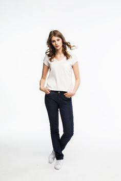 PARIS BLUES NOIR Paris, Elegant, Jeans, Dame, Blues, Normcore, Fashion, Dark Blue, Cotton