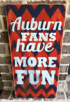CLEARANCE Auburn University Tigers War Eagle chevron distressed wood sign art