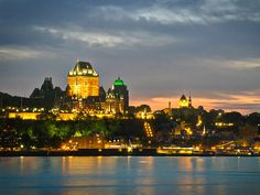 Take a cheap ferry ride across the St. Lawrence River to watch the sun set over the Quebec City skyline.
