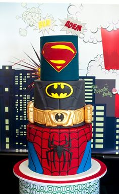 Superhero Cake- dad and chase will love this!!