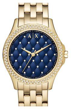 76c21065e5e Armani Exchange Hampton Navy Dial Ladies Watch AX5247