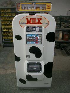 Restored Vintage Milk Vending Machine (I want one)