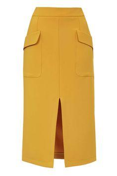 PETITE Split Midi Skirt - Topshop