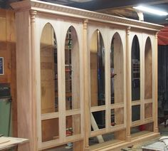 A Stunning Gothic Styled Bookcase Hand Made In Honduras Mahogany By Andrew Alstin
