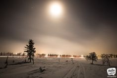Full Moon 17.12.2013 in Saariselkä Ski Resort, Lapland, Finland.