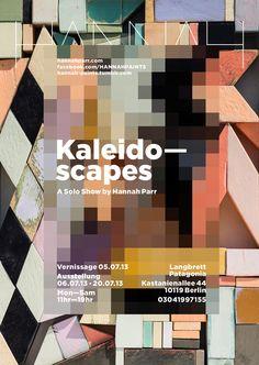 HANNAH Show Invite 'Kaleidoscapes' by Byron Parr www.hannahparr.com www.hannah-paints.tumblr.com