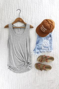 The Sleek Jersey Tank. Z Supply The Sleek Jersey Tank. Heather grey jersey tank. Super soft. Super comfy. Cute spring style. Spring outfit inspo. New arrivals at therollinj.com.