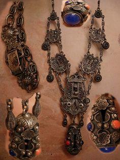 Antique Etruscan necklace Sterling fob от vintagesparkles на Etsy