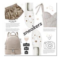 """N. 4 Sep - White Sneakers in Style"" by martinambf on Polyvore featuring moda, Rosie Assoulin, Marc Jacobs e MICHAEL Michael Kors"