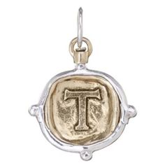 """Voyager Charm """"""""T"""""""" By Waxing Poetic Rare"""
