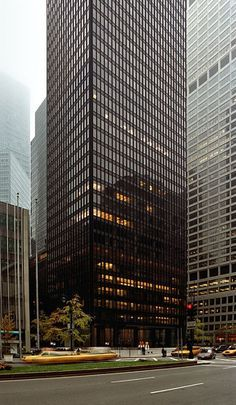 1984 AIA National Twenty-five Year Award Recipient- Seagram Building in New York City, New York; designed by Ludwig Mies van der Rohe