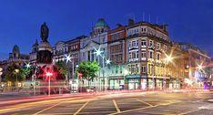 O' Connell Street At Night - Dublin City Print by Barry O Carroll General Post Office, City O, Light Trails, Dublin City, Before Sunrise, Traffic Light, Dublin Ireland, Photo Location, Fine Art America