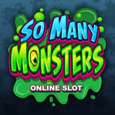 So Many Monsters Online Slot Game Game Font, Game Ui, Game Design, Icon Design, Text Design, Logo Design, Cartoon Letters, Signwriting, Graffiti