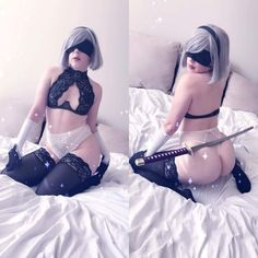 Boudoir 2B by Anya Braddock - More at https://pinterest.com/supergirlsart #nier #automata #hot #sexy #cosplay #girl #cosplaygirl #lingerie