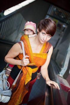 Paisley Quatro Sunburn Ellevill Wraparound Baby Carrier - Wrap Your Baby Baby Wrap Carrier, Baby Wraps, Wrap Around, Paisley Pattern, Baby Wearing, Organic Cotton, Sari, Stripes, Elegant