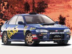 "Subaru Impreza WRX STi Ver.II ""555"" (1995 – 1996)."