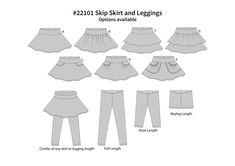 SewbyPatternPieces - Leggings et Skip 22101 jupe Tiered Skirts, Complete Outfits, Tee Dress, Sewing For Kids, Sewing Clothes, Your Girl, Cool Tees, Pattern Making, Cover Photos