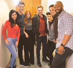 Our cast surprised our super fans! by shadowhunterstv Shadowhunters Tv Series, Shadowhunters The Mortal Instruments, Isabelle Lightwood, Alec Lightwood, Jace Wayland, Clary E Jace, Dominic Sherwood, Matthew Daddario, Katherine Mcnamara