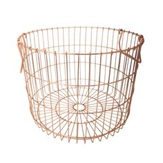 Jax copper basket from Freedom Furniture. Copper Blush, Copper Color, Copper Basket, Freedom Furniture, Blush And Grey, Fabric Armchairs, Barbie Dream House, Beauty Room, Industrial Style
