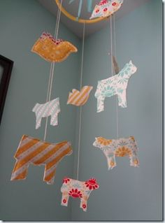 Cow and birds #baby mobile for your little cowboy or cowgirl.