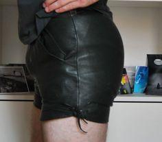kurze Lederhose, Bundw. 72cm, Trachtenhose, Oktoberfest, DDR, Wandern, Vintage…