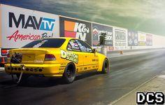 Honda Civic Drag Racing Poster by AutomotivePrints on Etsy