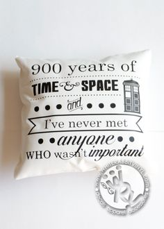 Doctor Who Time And Space Pillow Case – White Rabbit Vinyl