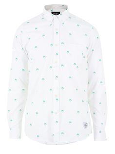 543cef781c2d A QUESTION OF Men s Palms OXBD Shirt - White