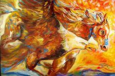"""Eagle Spirit Run War Pony"" par Marcia Baldwin"