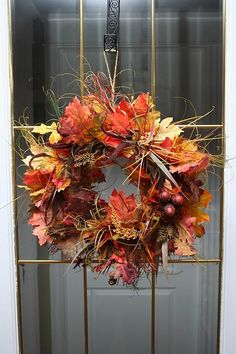 Fall Leaves Wreath!  Get ready for your next project with great decor items from Old Time Pottery!  www.oldtimepottery.com
