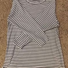 "HP!!!  ""Style Staples"" 3/17/16 Black/white striped long sleeve T-shirt - Comfy cotton long sleeve (May actually be navy instead of black - can't quite tell) Lane Bryant Tops Tees - Long Sleeve"