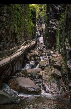 Flume Gorge New Hampshire, hiked it and it is beautiful.  Amazing!!!!